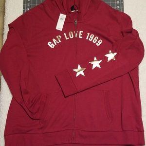 Lightweight gap zip hoodie